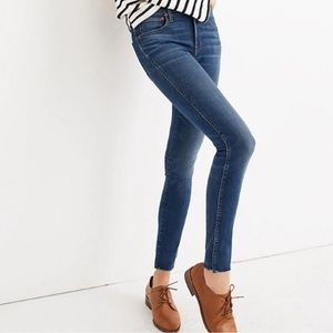"""New Madewell 9"""" Mid-Rise Skinny Jeans"""
